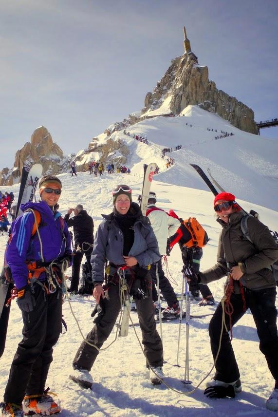 Vallée blanche avec un Guide de haute montagne