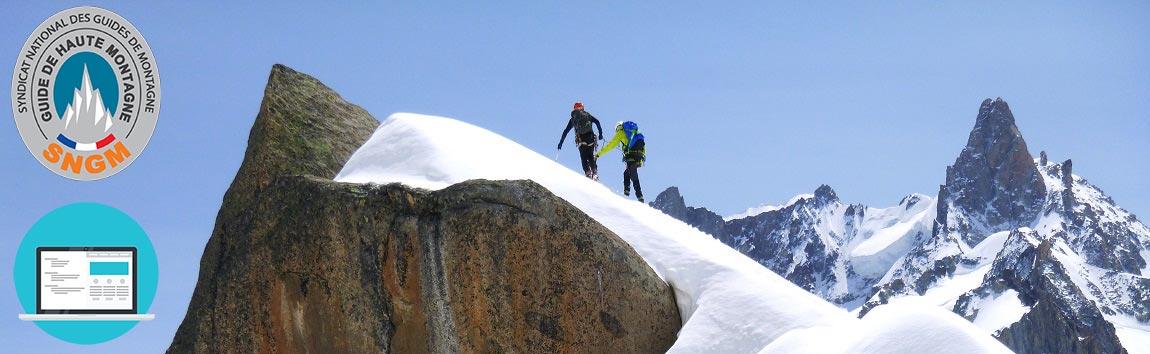 guide de haute montagne chamonix | création de site internet
